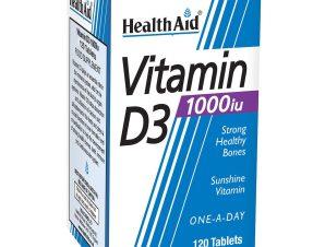 Health Aid Vitamin D3 1000iu 120tabs