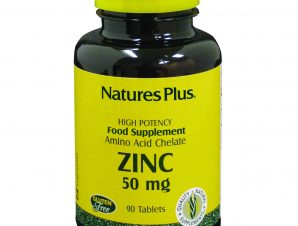 Nature's Plus Zinc 50mg Συμπλήρωμα Διατροφής με Ψευδάργυρο 90 tabs