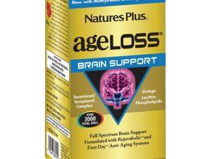 Nature's Plus Ageloss Brain Support Συμπλήρωμα Διατροφής για την Υποστήριξη των Εγκεφαλικών Λειτουργιών 60 Κάψουλες