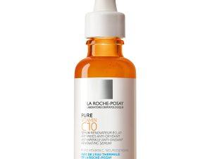 La Roche-Posay Pure Vitamin C10 Αντιοξειδωτικός, Αντιρυτιδικός, Αναζωογονητικός Ορός Λάμψης με Καθαρή Βιταμίνη C 30ml