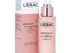 Lierac Arkeskin Night Nutri-Redensifying Fluid Λεπτόρευστη Κρέμα Νύχτας για Θρέψη & Επαναπύκνωση Προσώπου & Ντεκολτέ 50ml