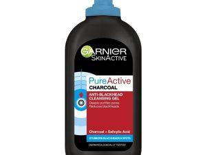 Garnier Pure Active Charcoal Gel Καθαρισμού με Ενεργό Άνθρακα, Απομακρύνει το Πλεονάζον Σμήγμα από την Λιπαρή Επιδερμίδα 200ml