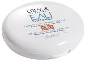 Uriage Eau Thermale Water Cream Tinted Compact SPF30 Ενυδατώνει σε Βάθος και Προστατεύει Ενάντια στην UV Ακτινοβολία 10gr