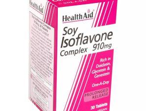 Health Aid Soy Isoflavone Complex 910mg Συμπλήρωμα Διατροφής για την Υγεία Καρδιάς, Οστών & των Γυναικείων Ορμονών 30tabs