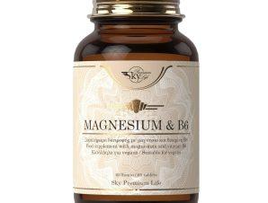 Sky Premium Life Magnesium & B6 Συμπλήρωμα Διατροφής που Συμβάλει στην Καλή Λειτουργία του Νευρικού & Μυϊκού Συστήματος 60tabs