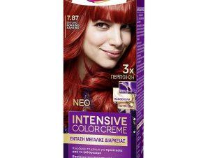 Schwarzkopf Palette Intensive Color Creme Επαγγελματική Μόνιμη Κρέμα Βαφή Μαλλιών, Απόλυτη Κάλυψη & Αποτέλεσμα Διάρκειας – 7.87 Έντονο Κόκκινο Χάλκινο