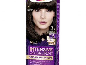 Schwarzkopf Palette Intensive Color Creme Επαγγελματική Μόνιμη Κρέμα Βαφή Μαλλιών, Απόλυτη Κάλυψη & Αποτέλεσμα Διάρκειας – 3 Καστανό Σκούρο