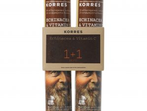 Korres Πακέτο Προσφοράς Echinacea & Βιταμίνη C, Γεύση Λεμόνι 1+1 Δώρο 2×20 Αναβρ.Δισκία
