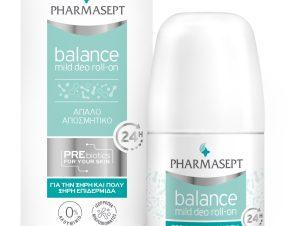 Pharmasept Balance Mild Deo Roll on Αποσμητικό με Κρεμώδη Υφή για Ευαίσθητες Επιδερμίδες & μη Ανεκτικό Δέρμα 50ml