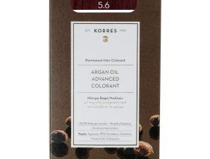 Korres Argan Oil Advanced Colorant Μόνιμη Βαφή Μαλλιών με Τεχνολογία Pigment-Lock που Κλειδώνει το Χρώμα 50ml – 5.6 Καστανό Ανοιχτό Κόκκινο