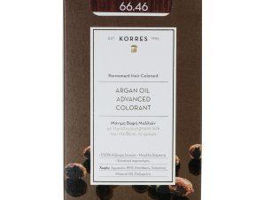 Korres Argan Oil Advanced Colorant Μόνιμη Βαφή Μαλλιών με Τεχνολογία Pigment-Lock που Κλειδώνει το Χρώμα 50ml – 66.46 ΕΝΤΟΝΟ ΚΟΚΚΙΝΟ ΒΟΥΡΓΟΥΝΔΙΑΣ