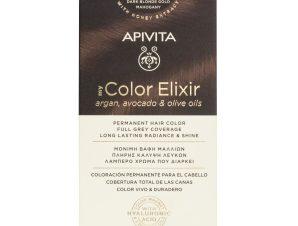 Apivita My Color Elixir Μόνιμη Βαφή Μαλλιών με Καινοτόμο Σύστημα Color Magnet που Σταθεροποιεί και Σφραγίζει το Χρώμα στην Τρίχα – N 6.35 ΞΑΝΘΟ ΣΚΟΥΡΟ ΜΕΛΙ ΜΑΟΝΙ