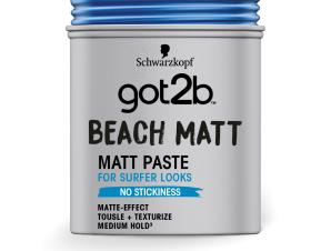 Schwarzkopf Got2B Paste Beach Matt Πηλός για Ατημέλητο Λουκ & Ματ Τελείωμα 100ml