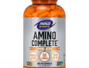Now Foods Amino Complete™ Συμπλήρωμα Διατροφής, Φυσική Πηγή 20 Αμινοξέων 360 VegCaps