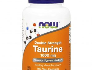 Now Foods Taurine Double Strength 1000mg (Free Form) Συμπλήρωμα Διατροφής για τη Φυσιολογική Λειτουργία του Εγκεφάλου 100Vegcaps