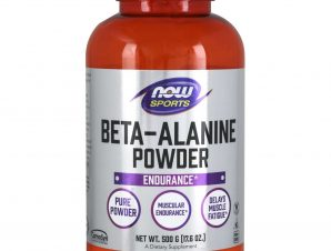 Now Foods Beta-Alanine Powder (100% Pure) Vegetarian Συμπλήρωμα Διατροφής Υψηλής Καθαρότητας, για Μείωση της Κόπωσης 500gr