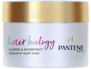 Pantene Hair Biology Cleanse & Reconstruct Intensive Repair Mask Μάσκα Αναδόμησης για Λιπαρές Ρίζες & Κατεστραμμένες Άκρες 160ml