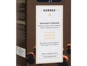 Korres Argan Oil Advanced Colorant Μόνιμη Βαφή Μαλλιών με Τεχνολογία Pigment-Lock που Κλειδώνει το Χρώμα 50ml – 2.1 ΜΑΥΡΟ ΜΠΛΕ