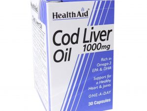 Health Aid Cod Liver Oil 1000Mg Vegetarian Capsules Υγεία Της Καρδιάς 30tabs