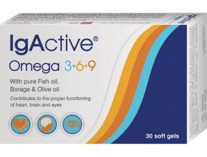 IgActive Συμπλήρωμα Διατροφής Omega 3,6,9 1000mg 30sgels