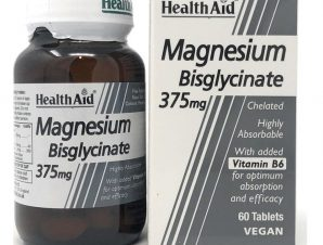 Health Aid Magnesium Bisglycinate 375mg & Vitamin B6 Χηλικό Μαγνήσιο & Βιταμίνη Β6 60 tabs