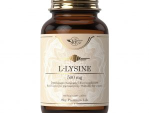 Sky Premium Life L-Lysine 500mg Συμπλήρωμα Διατροφής με Λυσίνη για την Φυσιολογική Λειτουργία του Οργανισμού 60 Δισκία