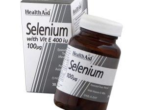 Health Aid Selenium 100μg & Vitamin E 400i.u. Ενεργοποίηση των Αντιοξειδωτικών Ενζύμων του Οργανισμού 30 Κάψουλες