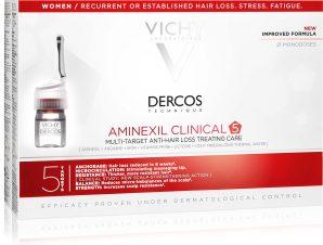 Vichy Dercos Aminexil Intensive 5 Αμπούλες Αντιμετώπισης της Γυναικείας Τριχόπτωσης 21×6 ml
