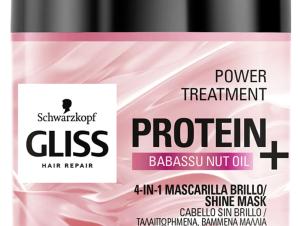 Schwarzkopf Gliss Power Treatment Protein With Babassu Nut Oil Μάσκα Λάμψης για Βαμμένα και Ταλαιπωρημένα Μαλλιά 400ml