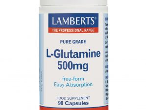 Lamberts L-Glutamine Συμπλήρωμα Διατροφής για τη Φυσιολογική Λειτουργία του Εντέρου 500mg 90 caps