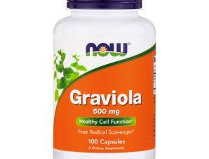 Now Foods Graviola 500mg Συμπλήρωμα Διατροφής με Ισχυρές Καρδιοτονωτικές & Αγγειοδιασταλτικές Ιδιότητες 100 VegCaps