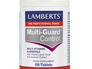 Lamberts Multi-Guard Control Συμπλήρωμα Διατροφής για την Ομαλή Ισορροπία των Ενεργειακών Αποθεμάτων Μεταξύ των Κυρίων Γευμάτων – 120 tabs